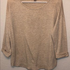 Light Tan 3/4 sleeve sweater